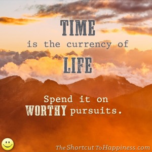 time is the currency of life